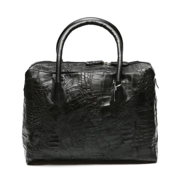 【新品】 2way クロコダイル マット K-11821 ブラック ハンドバッグ 【H】