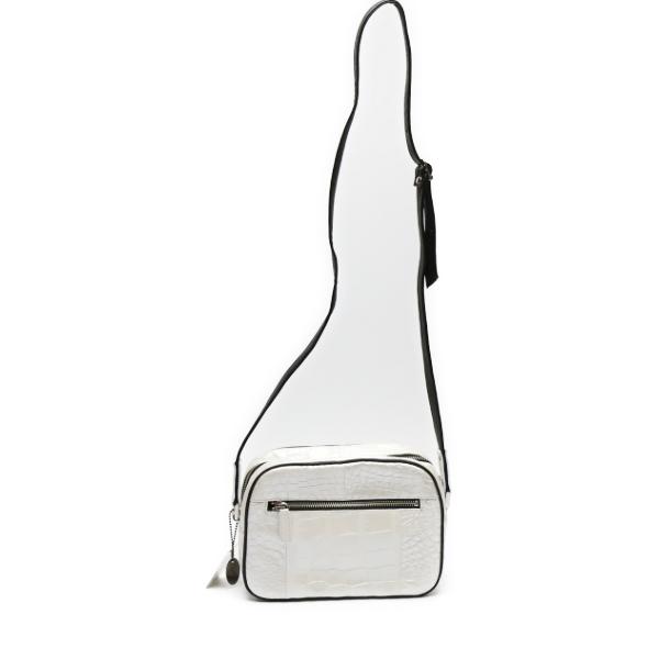 【新品】 JRA クロコダイル 日本製 斜めがけ 4258 ホワイト ショルダーバッグ