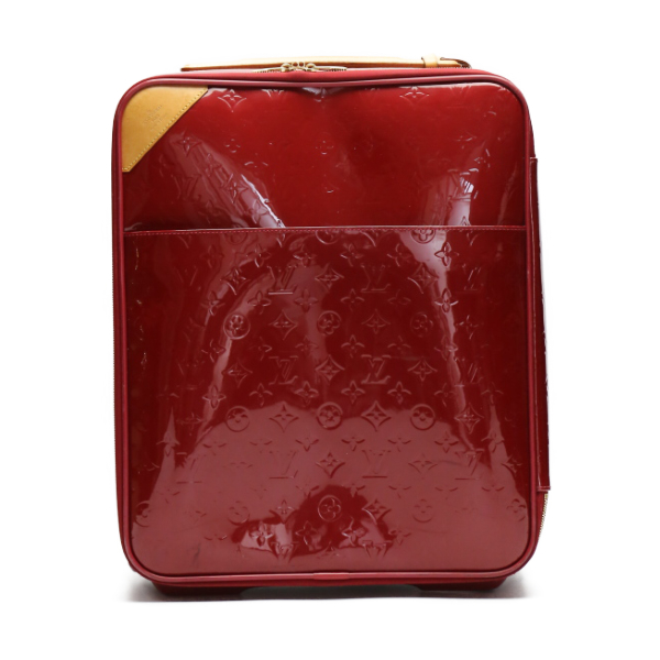 キャスター付き旅行バッグ ヴェルニ ペガス45 M91278 ルイ・ヴィトン ポムダムール キャリーバッグ LOUIS VUITTON LV 【SS】 【中古】