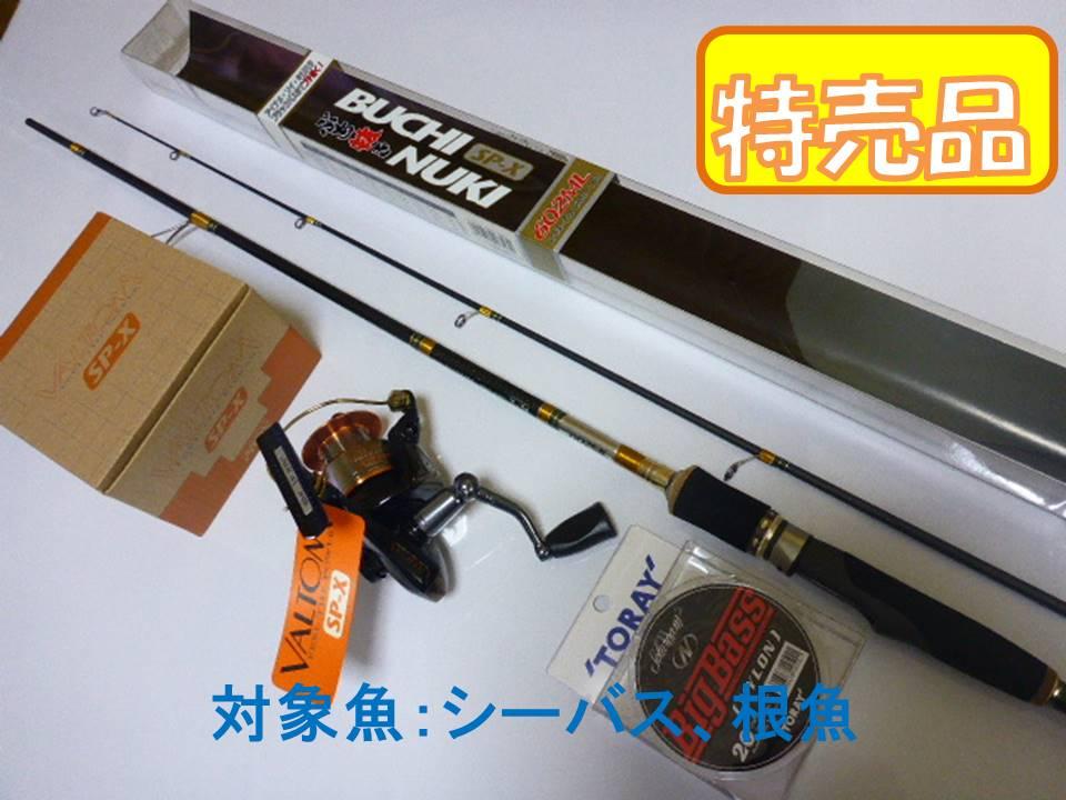 PROX ぶち抜きSP-X 602ML ロッド/バルトム SP-X20Cリール/Big Bassナイロンライン セット