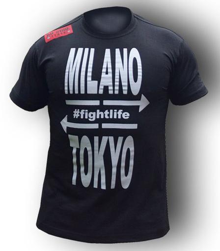 格闘技Tシャツ【オ・スティーレ】Ho-Stile  Tシャツ MI-TO (黒) /ボクシング キックボクシング ブラジリアン柔術 ファイトトレーニング 練習 MMA UFC