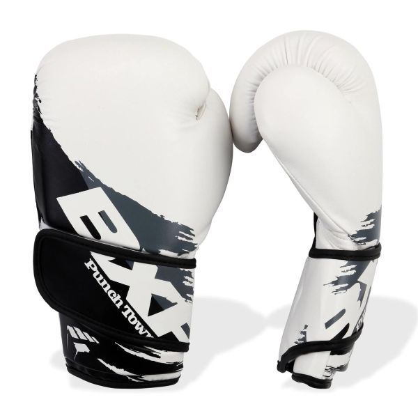 PunchTown[パンチタウン] BXR KR ボクシンググローブ(白/黒)