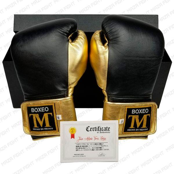 BOXEO TM[ボクセオTM] メキシカン プロ・ボクシンググローブ(黒/ゴールド)[MAZAFIGHT限定バージョン] (送料無料)