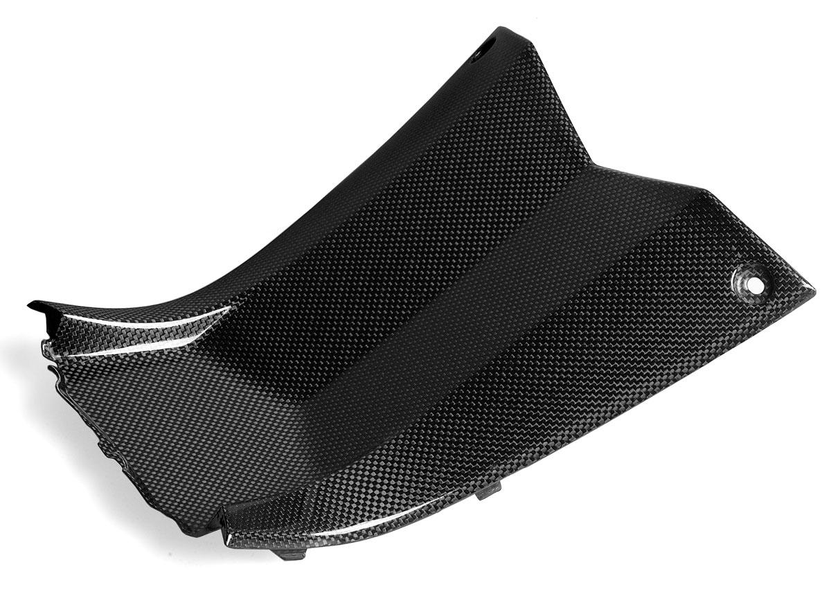 【バイク カーボンパーツ】ドライカーボン製レッグトンネル・カバーYAMAHA T-Max 530