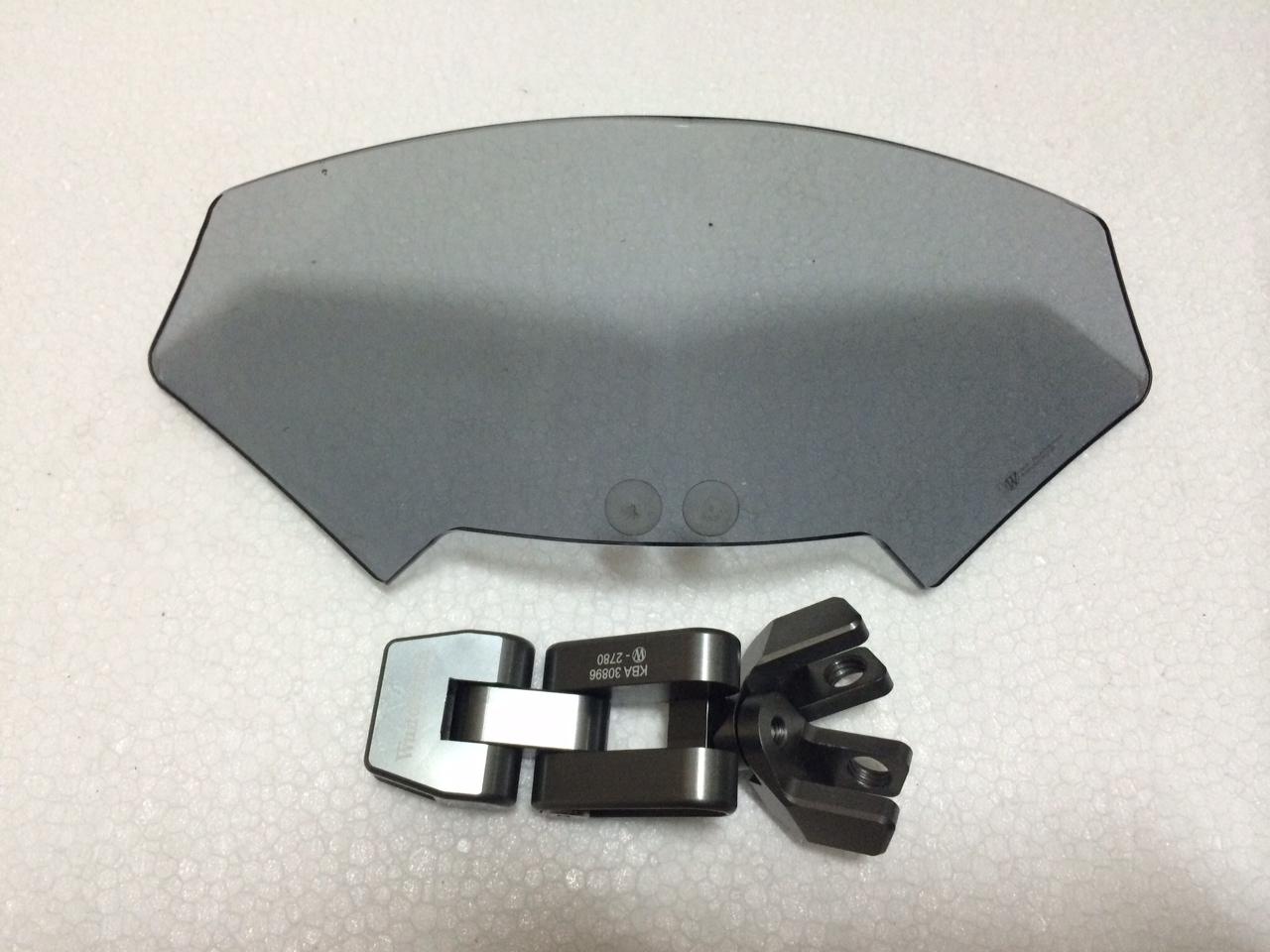 【バイク スクリーン】ワンダーリッヒVario-Ergo スクリーン・スポイラー 3D可変補助スポイラー スモーク
