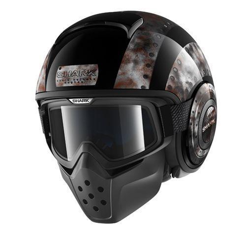 【SHARK】バイク ヘルメット Drakドラク ドッグタグ ブラック/メタル