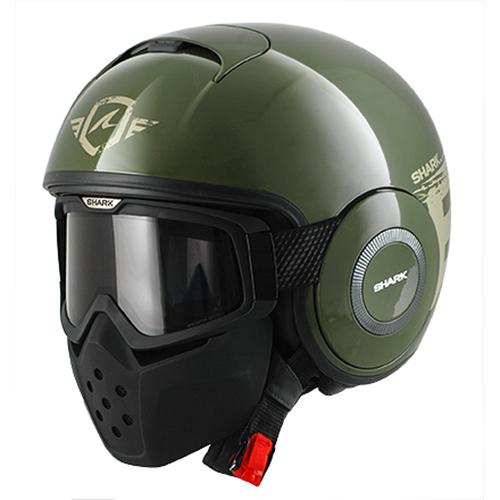 SHARKバイク ヘルメット DRAKドラク トリニティー グリーン