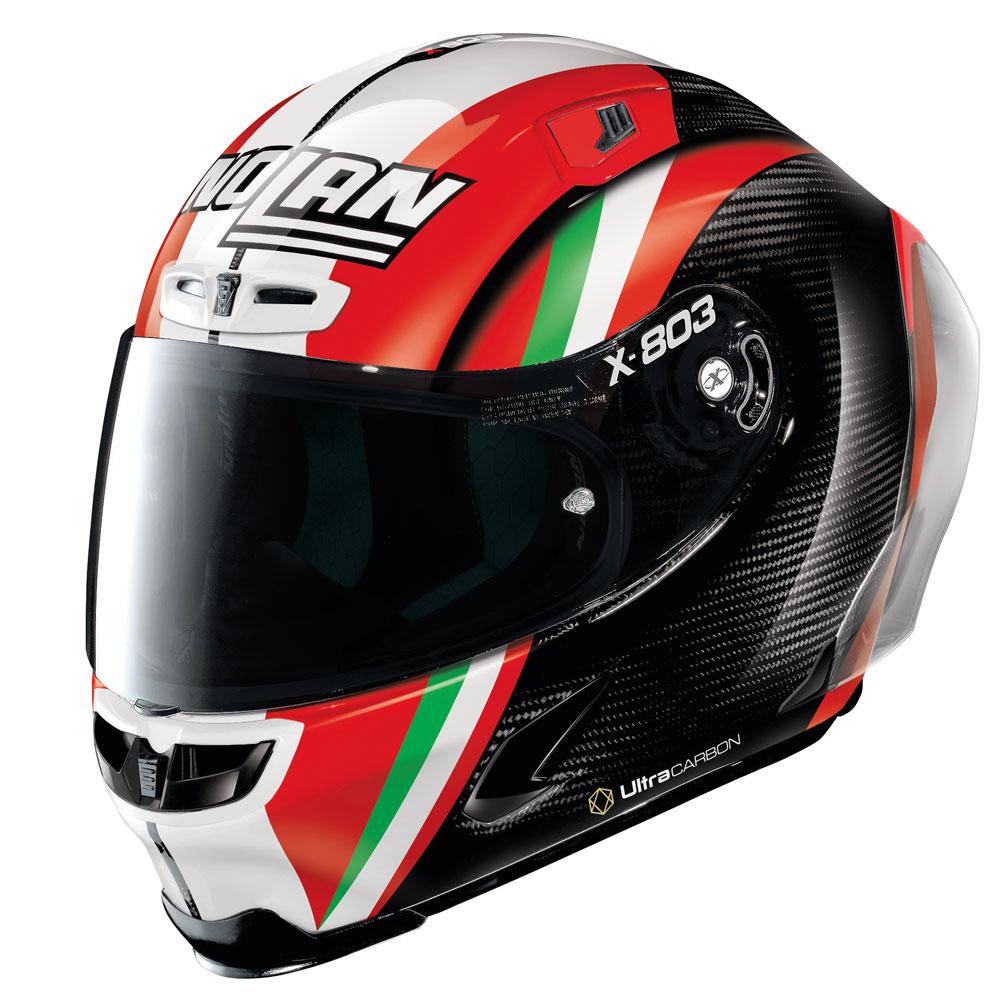 バイク ヘルメット フルフェイス ノラン / X-ライト X-803RS スポイラー付き ウルトラカーボン ケイシー・ストナー