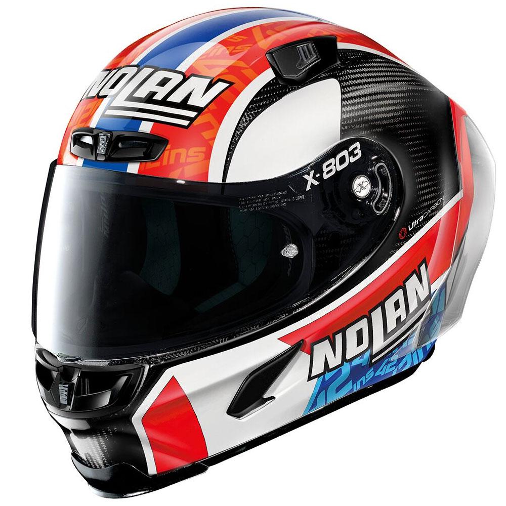 バイク ヘルメット フルフェイス ノラン / X-ライト X-803RS スポイラー付き ウルトラカーボン アレックス・リンス