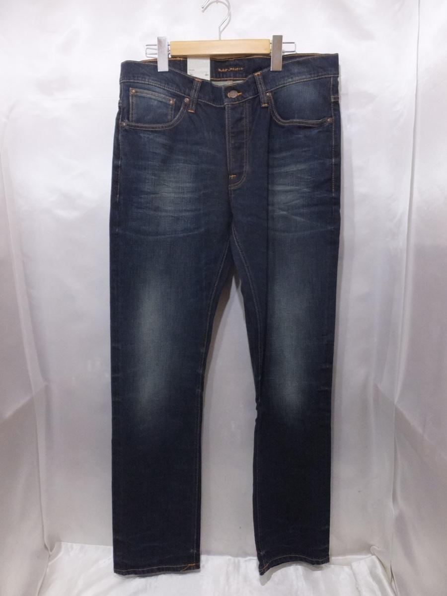 nudie jeans ヌーディジーンズ Dude Dan デュードダン Dan Dusk Comf デニムパンツ ジーンズ 色落ち加工 タグ付き W33 インディゴ メンズ 【中古】