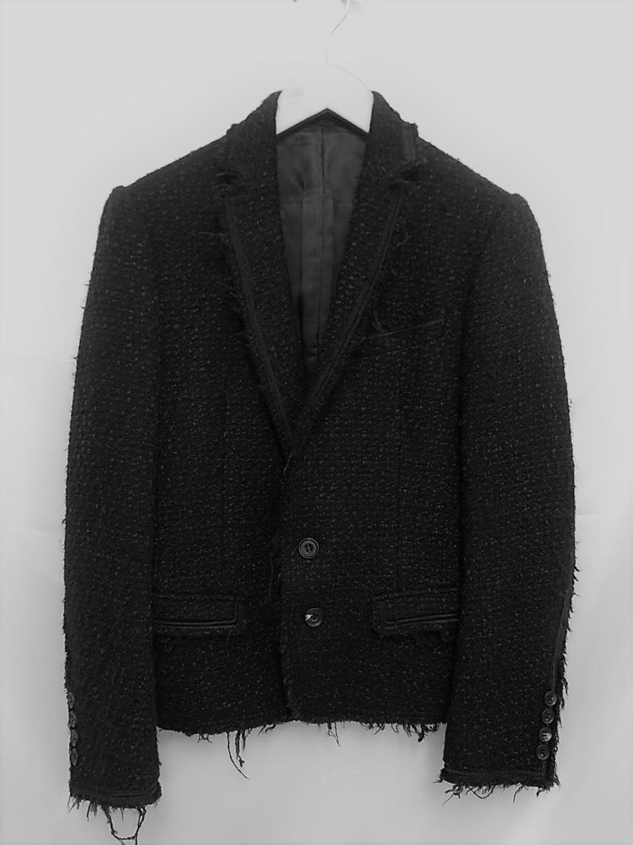 ato アトウ ウール2Bジャケット サイズ44 ブラック/黒 メンズ 日本製【中古】