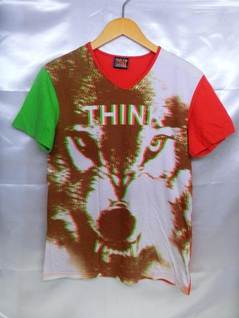 W&LT ダブリューアンドエルティー アナーキーTシャツ サイズS イタリア製 グリーン 緑 赤系 レッド メンズ トップス【中古】