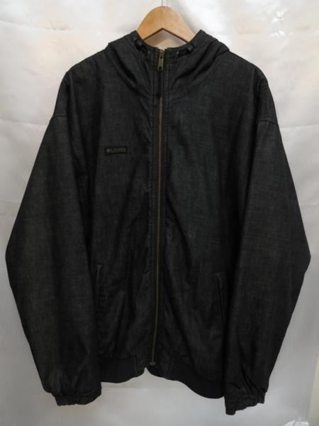 Columbia コロンビア ついに入荷 裏地フリースフード付きジャケット SizeXL インディゴ メンズ 春の新作 中古 PM5147 コロンビアスポーツウェアジャパン