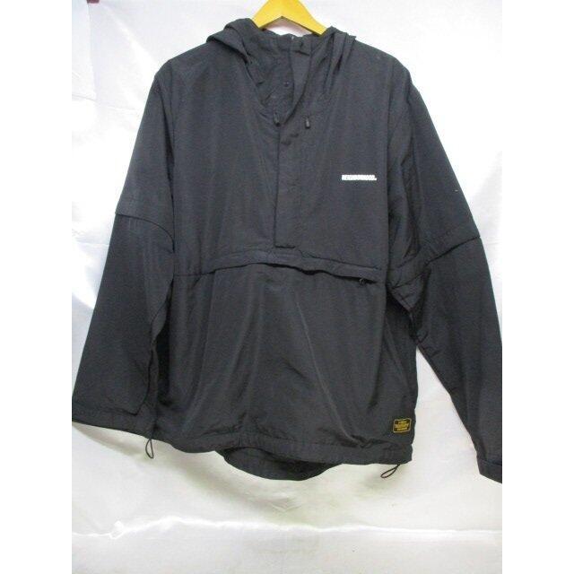 NEIGHBORHOOD お値打ち価格で ネイバーフッド ロゴ ナイロンパーカージャケット 中古 メンズ 低価格 パーカー ブラック