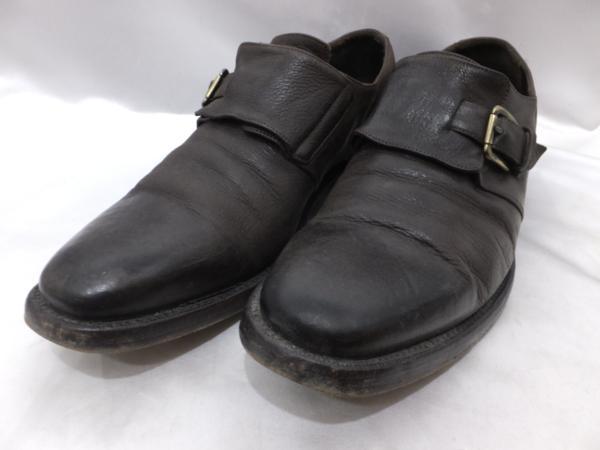 ALBERTO FASCIANI アルベルト ファッシャーニ モンクストラップシューズ 革靴 イタリア製 421/2 メンズ 茶【中古】