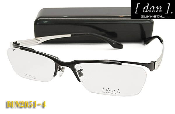 【DUN】ドゥアン 日本製 ゴムメタルチタン 眼鏡 メガネフレーム DUN2051-4 (度入り対応/フィット調整対応