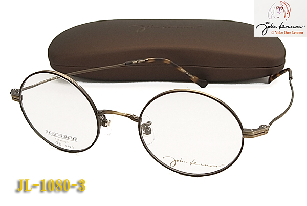 【JOHN LENNON】ジョン・レノン 眼鏡 メガネ フレームJL-1080-3 チタン/丸めがね/ダテ/日本製(度入り対応/フィット調整対応/送料無料!【smtb-KD】