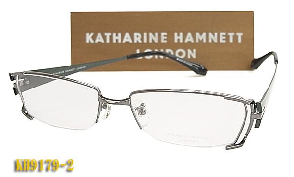 【KATHARINE HAMNETT】 キャサリン・ハムネット 眼鏡メガネ フレーム KH9179-2 日本製 チタン(度入り対応/フィット調整対応/送料無料!【smtb-KD】