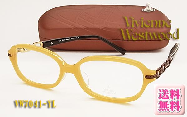 【VivienneWestwood】ヴィヴィアンウエストウッド眼鏡メガネフレーム VW7041-YL 伊達眼鏡にもOK (度入り対応/フィット調整対応/送料無料【smtb-KD】