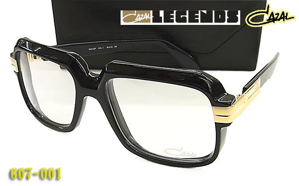 【CAZAL】カザール 伊達眼鏡 (サングラス) LEGENDS 607-001 太リム (度入り対応/フィット調整対応/送料無料!【smtb-KD】