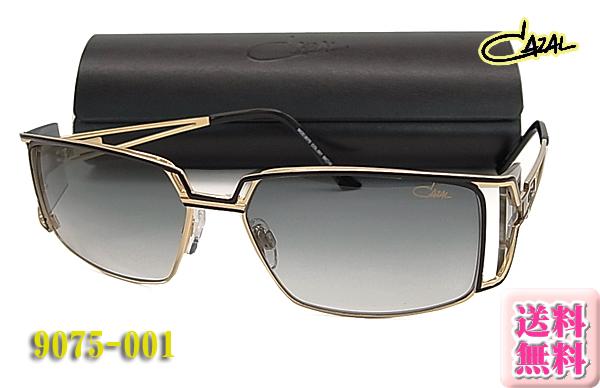【CAZAL】カザールサングラス 9075-001 正規品 ブラック/ゴールド(度入り対応/フィット調整対応/送料無料!【smtb-KD】