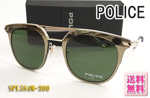 【POLICE】ポリス サングラス SPL584M-300 フラットレンズ Made in Italy(フィット調整対応/送料無料!【smtb-KD】