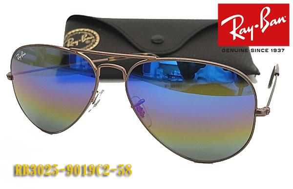 【Ray-Ban】 レイバン サングラス RB3025-9019C2-58サイズ ミラー AVIATOR クラシックメタル(フィット調整可 送料無料!