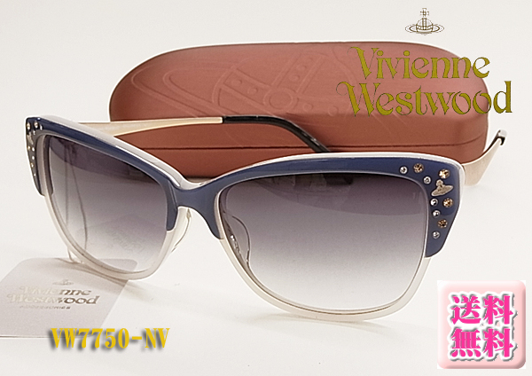 【VivienneWestwood】ヴィヴィアンウエストウッド サングラス VW7750-NV (度入り対応/簡易フィット調整対応/送料無料【smtb-KD】
