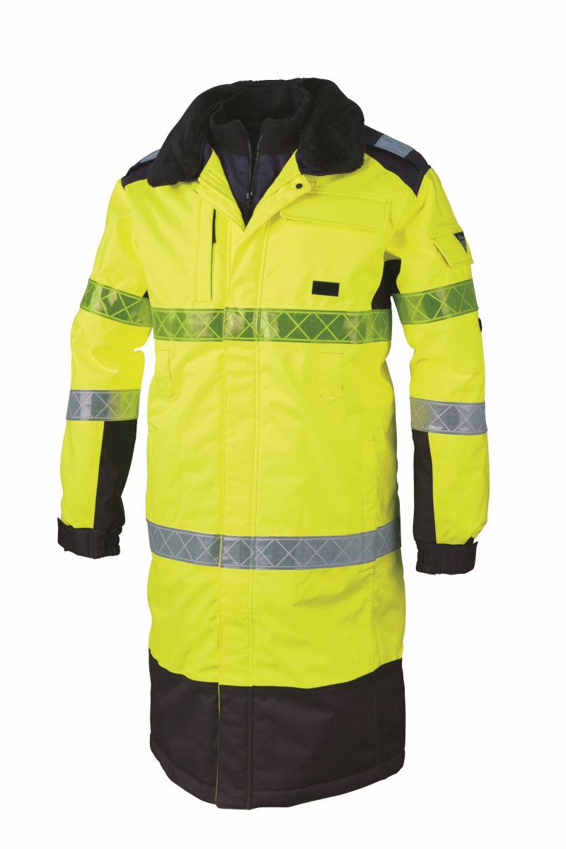 全天候対応高視認性安全服 XEBEC803 ジーベック セキュリティ 防水防寒ロングコート M~5L