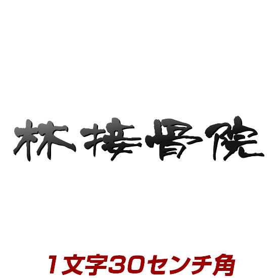 1文字価格 ステンレス製 漢字バラ文字表札看板 stl3-300k 30cm角 エッジが際立つレーザーカット加工 文字色、書体が選べるオリジナル+オーダーメイド看板 かんばん