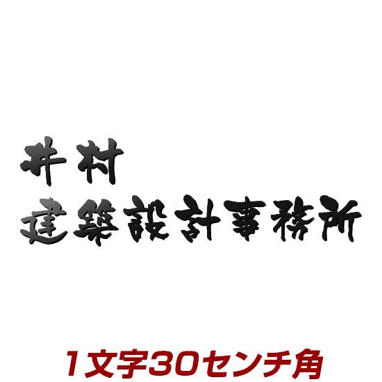 1文字価格 漢字タイプ ステンレス切り文字表札 30cm角 stl3-300k デザインイメージ事前確認付きで失敗なし! 書体・カラーが選べるオーダーメイドの表札(ひょうさつ)