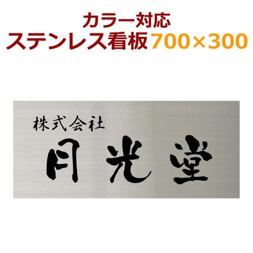 ステンレス看板 カラーカットフィルム仕上げ stc300700 デザイン看板製作 会社や事務所におすすめ 30cm×70cm 社名ロゴ対応