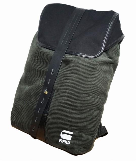 ジースターロウ G-STAR-RAW バックパック コーデュロイ リュックサック メンズ 鞄 バッグ グリーン 深緑
