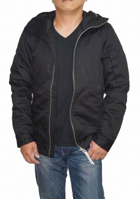 ジースターロウ G-STAR-RAW ミリタリー ジャケット 黒 D09927 中綿 フーデッド メンズ 冬物 ブラック 防寒 防風 耐寒 保温