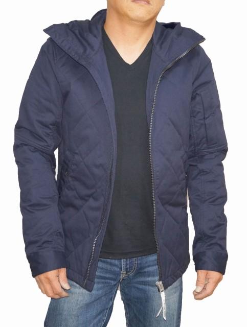 ジースターロウ G-STAR-RAW ミリタリー ジャケット 紺 D07569 中綿 キルティング メンズ 冬物 ネイビー 防寒 防風 耐寒 保温 フーデッド