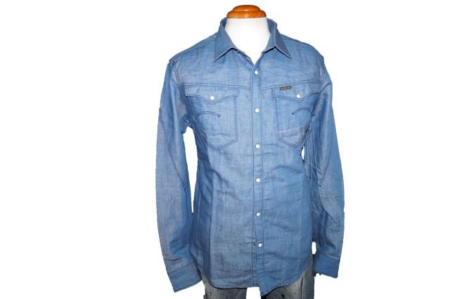 ◆新品 ジースターロウ ウエスタンシャツ tr