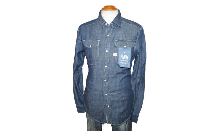 ジースターロウ G-STAR RAW 長袖シャツ ウエスタンシャツ シャンブレー メンズ 春物 デニムシャツ