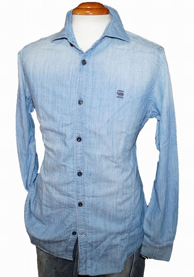ジースターロウ G-STAR RAW 長袖シャツ シャンブレー メンズ タンガリー サイズS