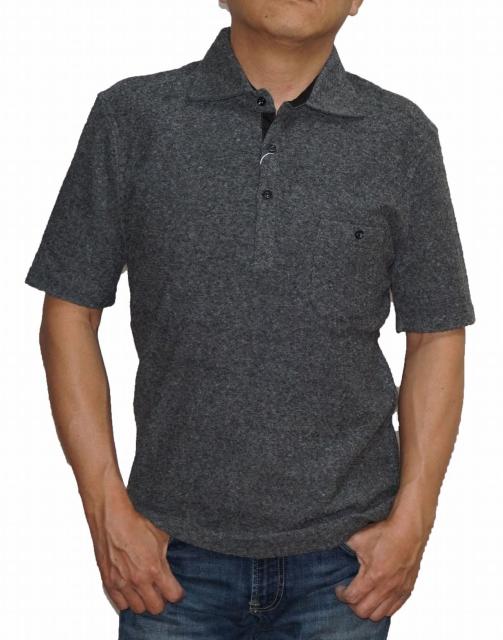 レ二ウム ハイダウェイ rhenium HIDEAWAYS 半袖 ポロシャツ 7265-9503 メンズ 夏物 グレー