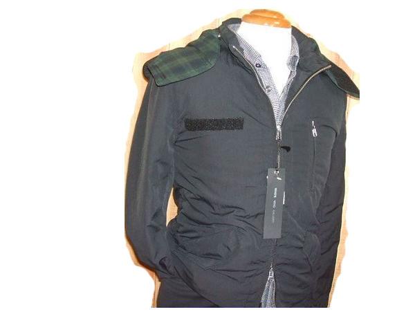 ◆フーズフー jkt 中綿ショートモッズ 黒 サイズM 新品 b100329