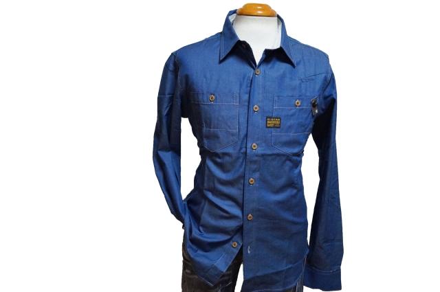 ◆新品 ジースターロウ 長袖シャツ ワークシャンブレーMg121319