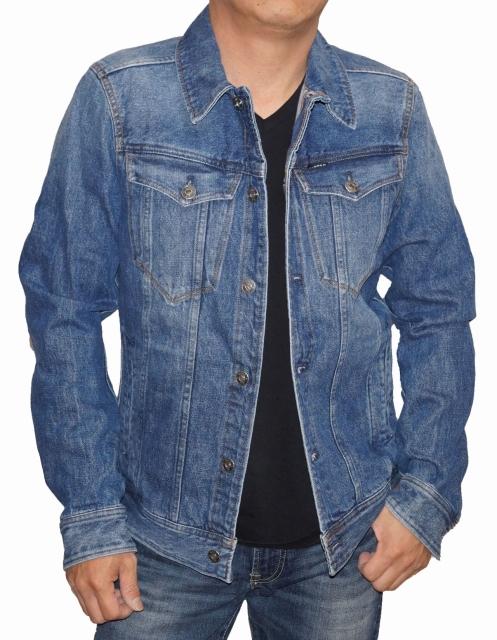 ジースターロウ G-STAR RAW デニムジャケット D04903 メンズ 春物 秋物 ジージャン Gジャン ユーズド加工 男性用