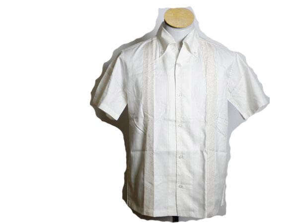 新品♪★ニコル ボタンダウン 半袖シャツ クリーム色 M ★