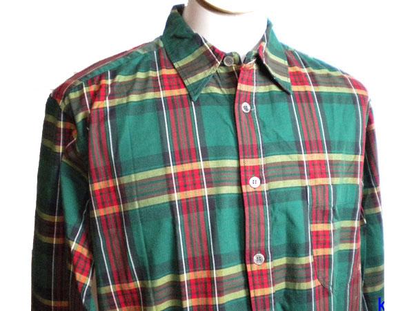 美品 ◆ノースマリンドライブ 長袖シャツ 緑系 ◆ k005