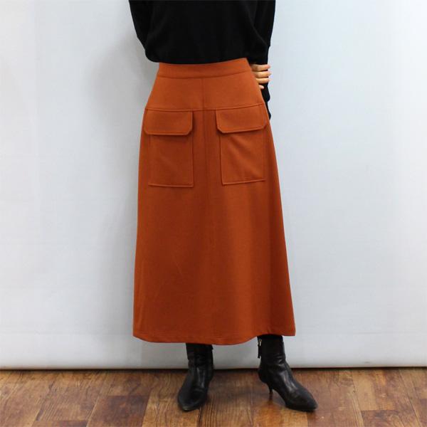 ロングスカート お求めやすく価格改定 30%OFF CYNICAL シニカル 96515 高級品 台形 スカート《セール品につき返品不可》 ポケット フロント