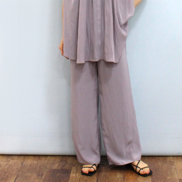 ワイドパンツ ファッション通販 30%OFF Dignite collier ディニテ コリエ 2020新作 フレア パンツ《セール品につき返品不可》 803001 デシン
