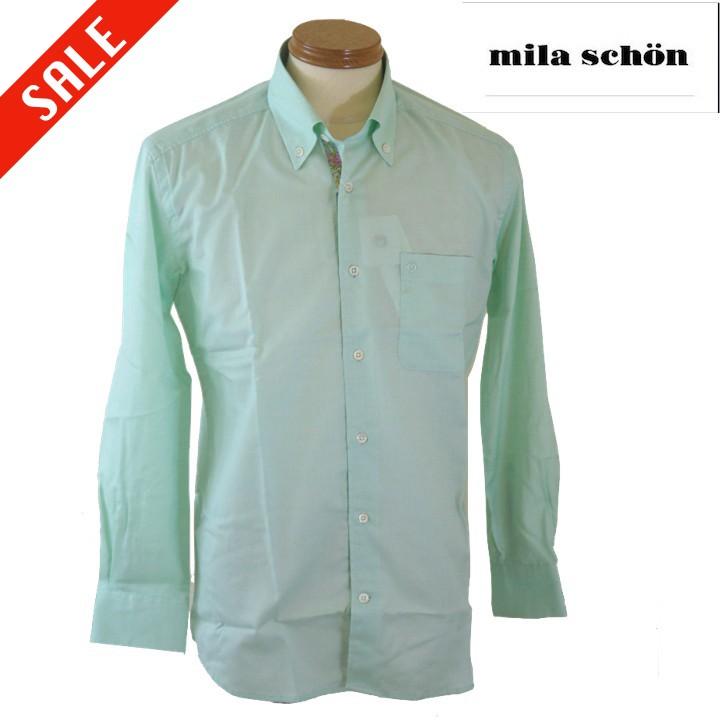 ミラショーン ドレスシャツ 48/Lサイズ グリーン系