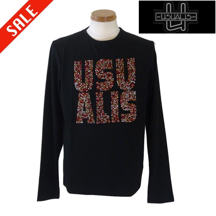 ウザリス ロゴ長袖Tシャツ XL/LL・XXL/3L・XXXL/4Lサイズ 黒系