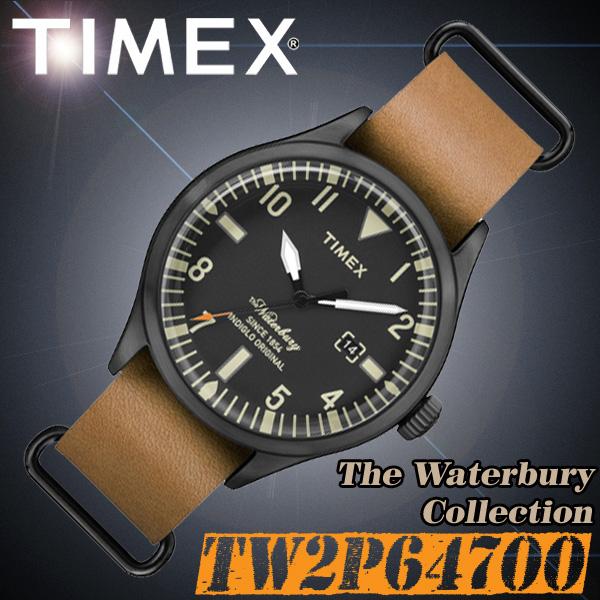 TIMEX【TW2P64700】The Waterbury Collection 40mm径 タイメックス ウォーターベリーコレクション メンズ  クォーツ 腕時計 レザーベルト 並行輸入【新品】『宅配便』で全国**