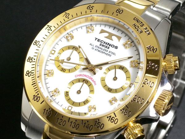お買得!おススメです!テクノス TECHNOS 腕時計 クロノグラフ  TGM640TW テクノス腕時計 メンズ 男性用 クロノ